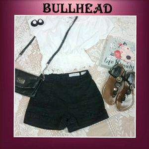 Bullhead Denim Co. High-Rise Short Shorts Black